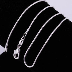 Jewelry - NEW 925 Sterling Silver Snake Chain Necklace